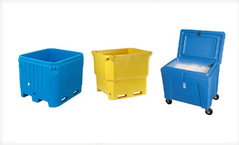 Insulated and double walled, cold storage & multi purpose bulk handling containers at BARR Plastics