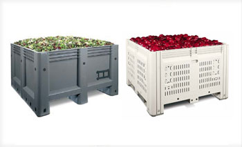 Macro Bins, Solid or vented walled available at BARR Plastics in Abbotsford, BC, Canada