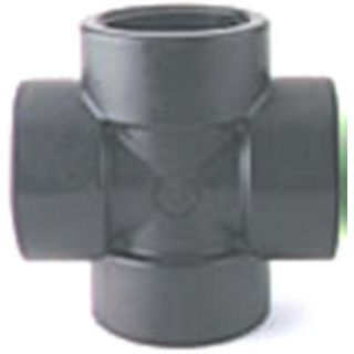 SCH 80 Polypropylene Threaded Cross Pipes