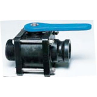 Poly Propylene Bolted Ball Valve MPT x Male Camlock