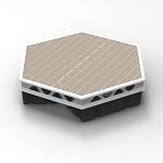 Complete Aluminum Floating Hexagonal Dock Kits