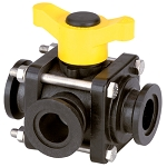 3-Way Flange Connect Ball Valves