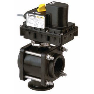 Banjo 3-Way Electric On / Off Ball Valves