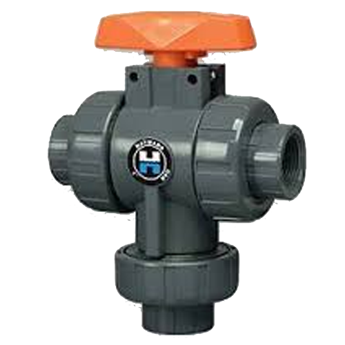 PVC True Union Bottom Load 3-Way Ball Valves